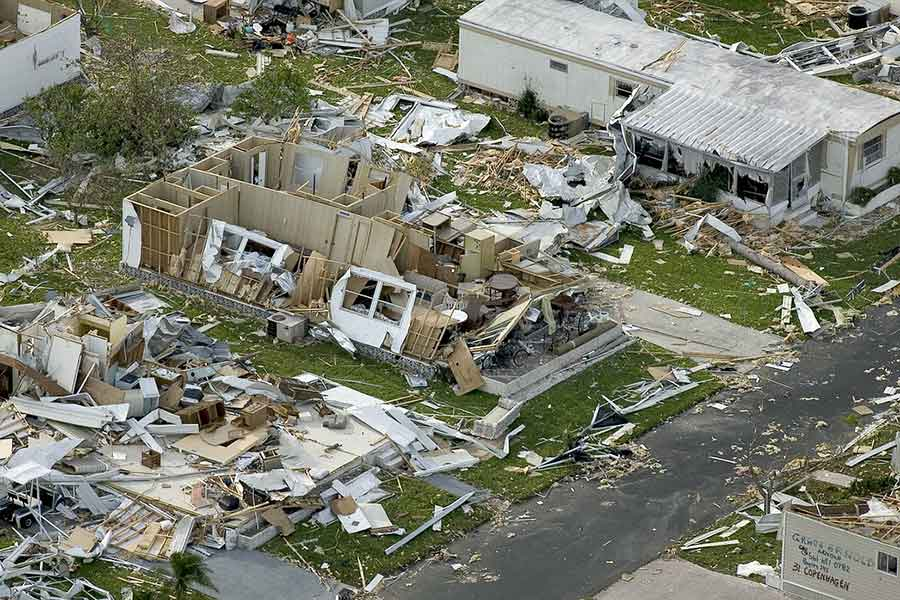 Natural disaster management for hurricanes, tornadoes and earthquakes